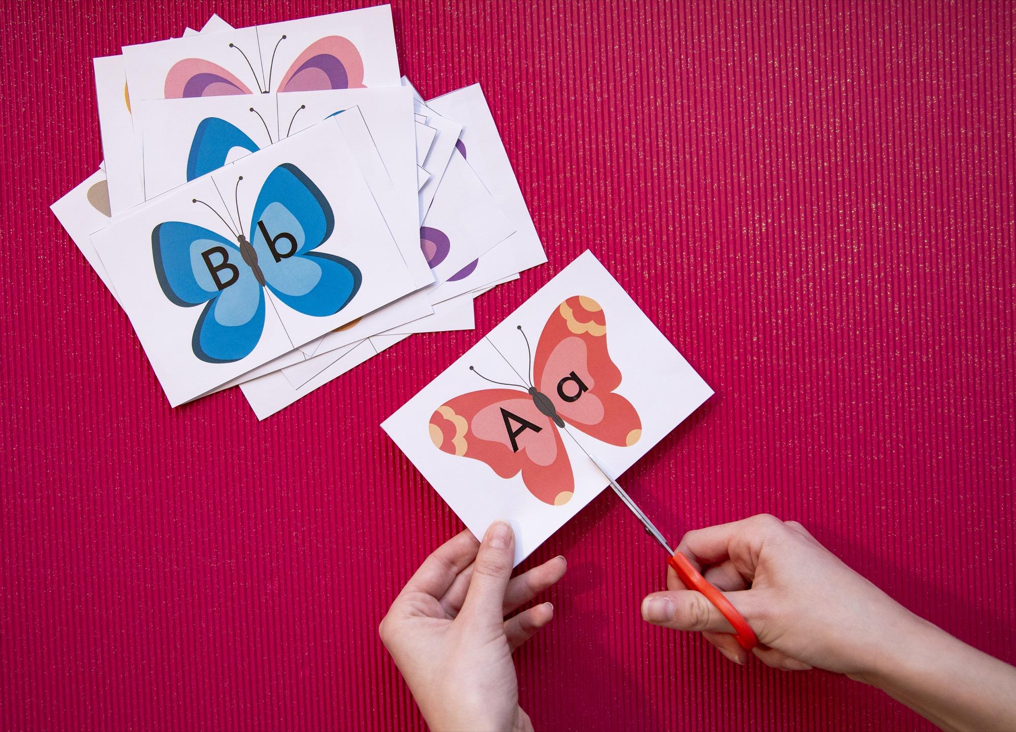 Mon double alphabet papillons - étape 3