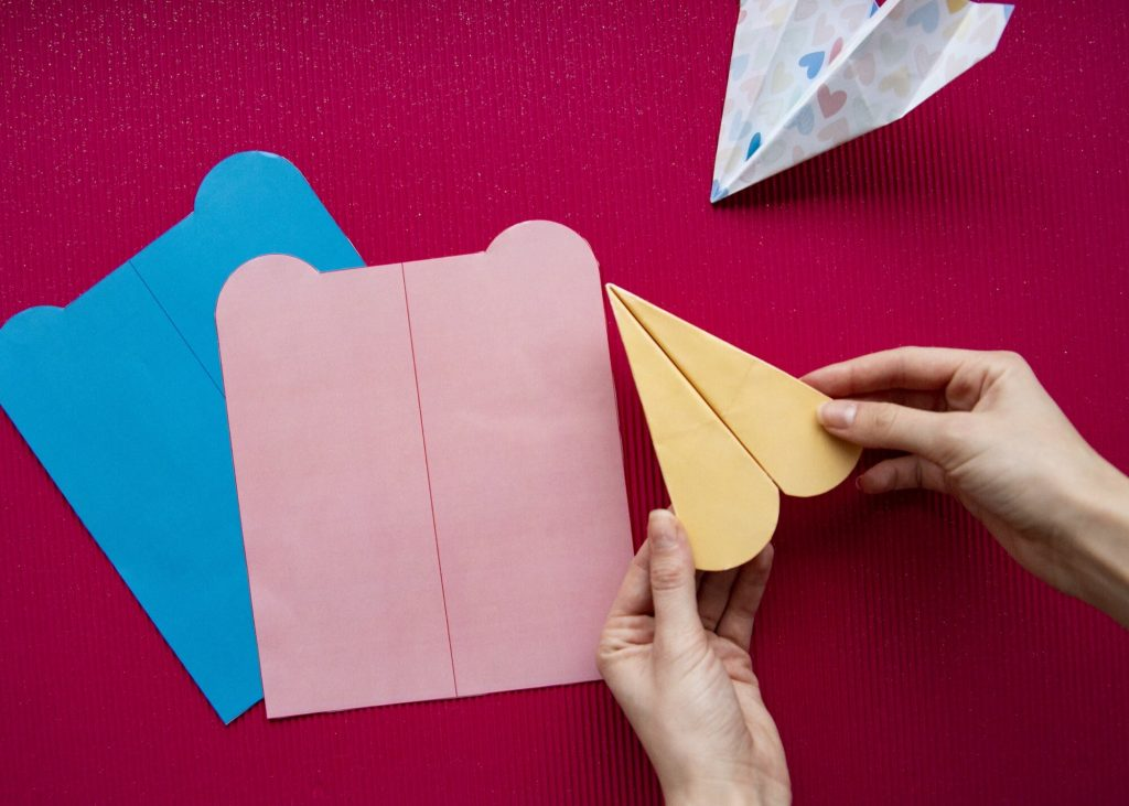 Avions en papier Saint Valentin - rendu final