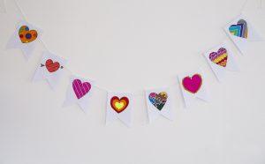 Banderole de la Saint Valentin - terminée