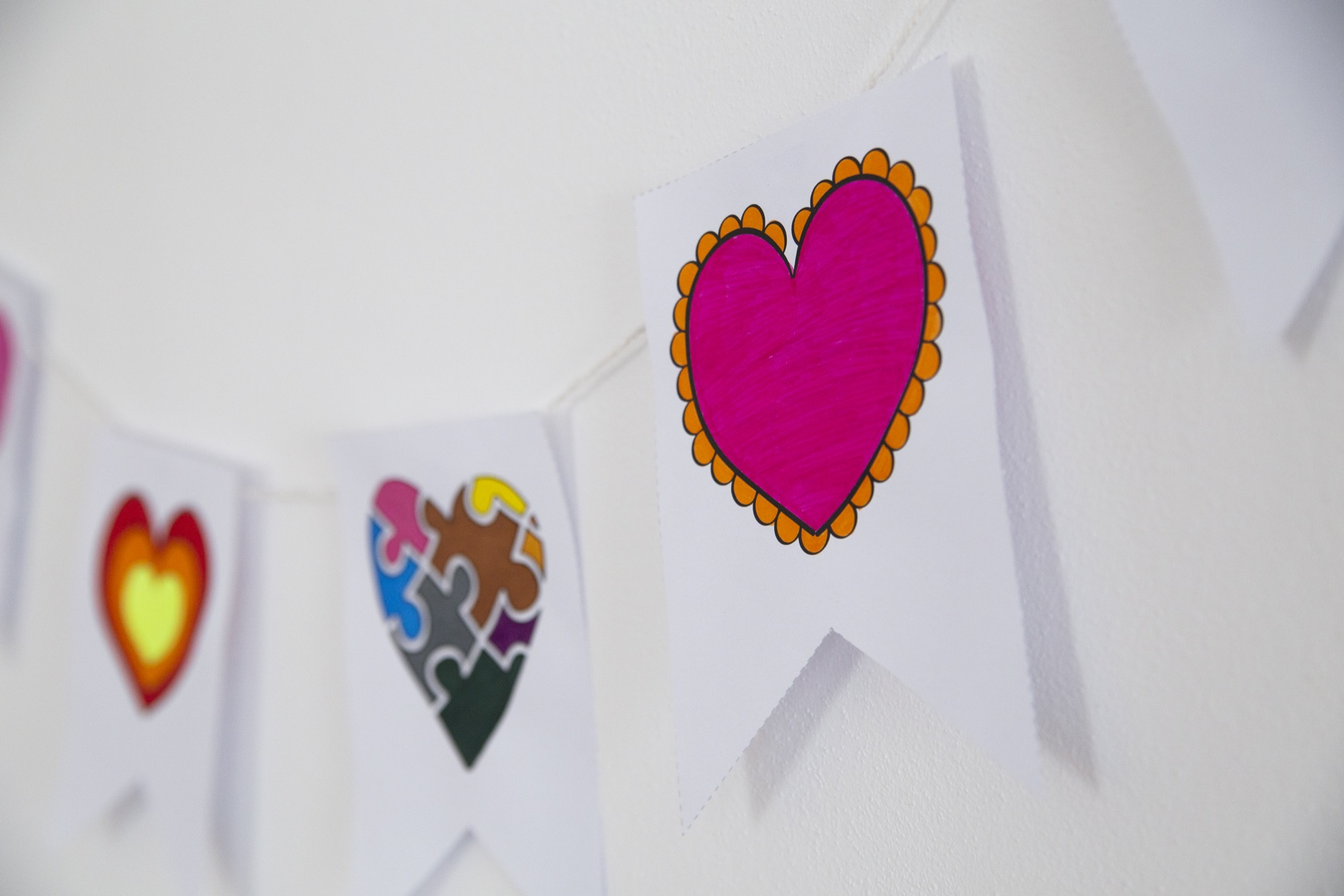 Banderole de la Saint Valentin - étape 4