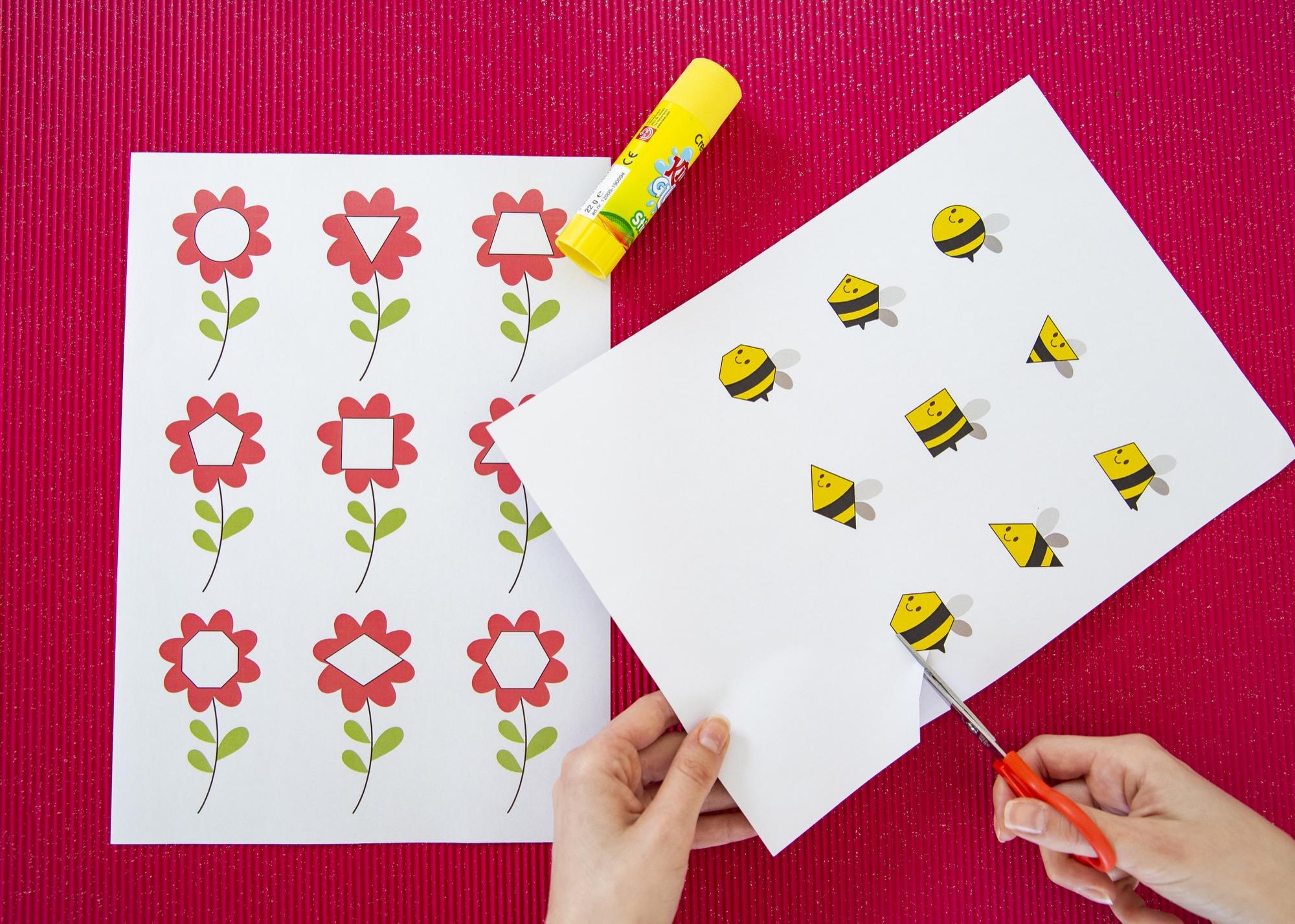 Des formes et des abeilles - étape 2