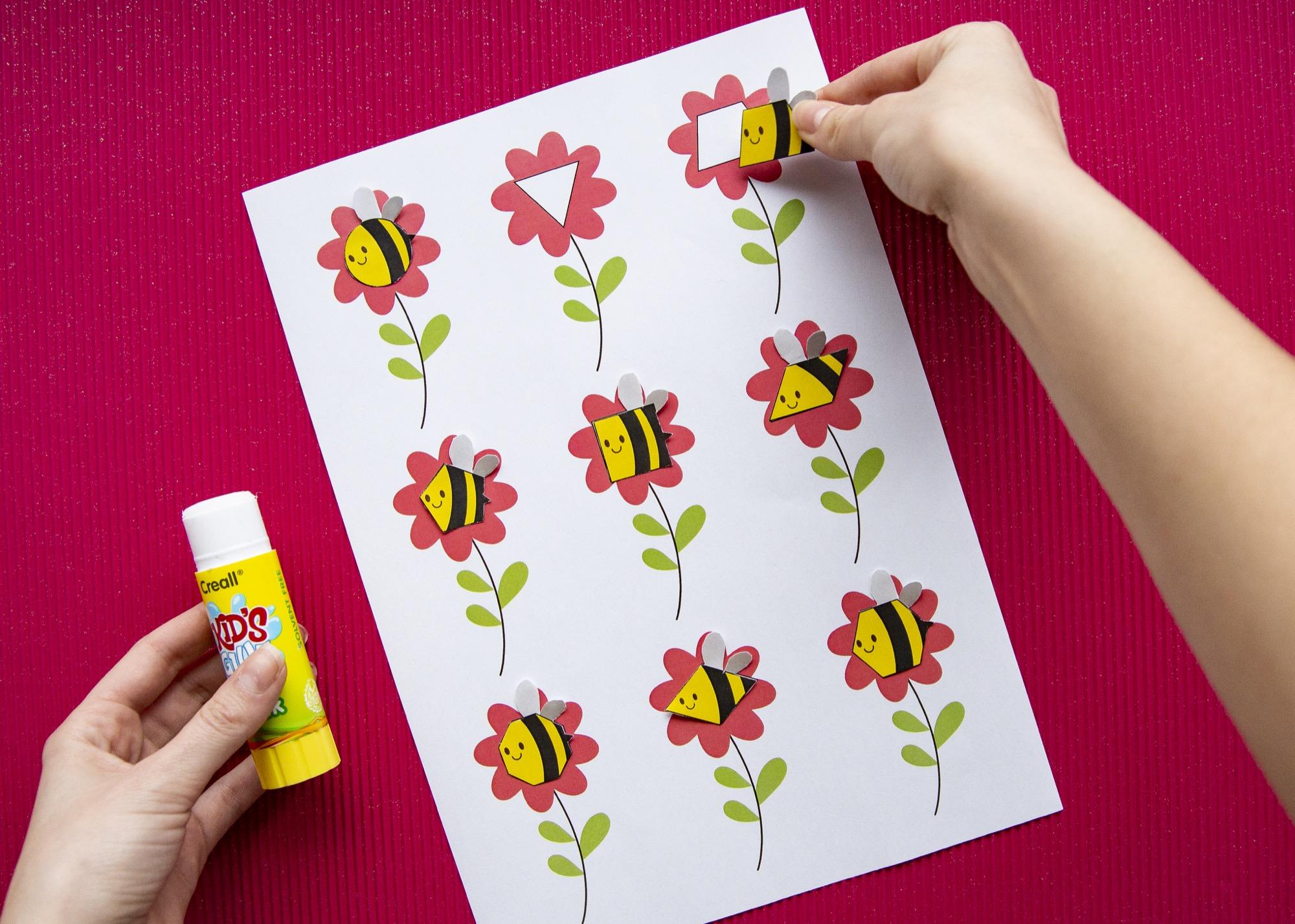 Des formes et des abeilles - étape 4