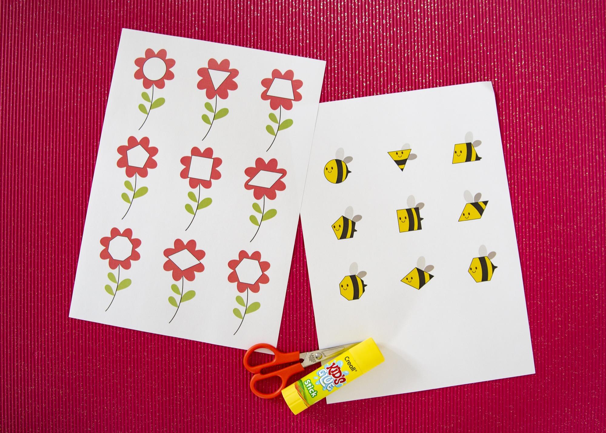 Des formes et des abeilles - étape 1