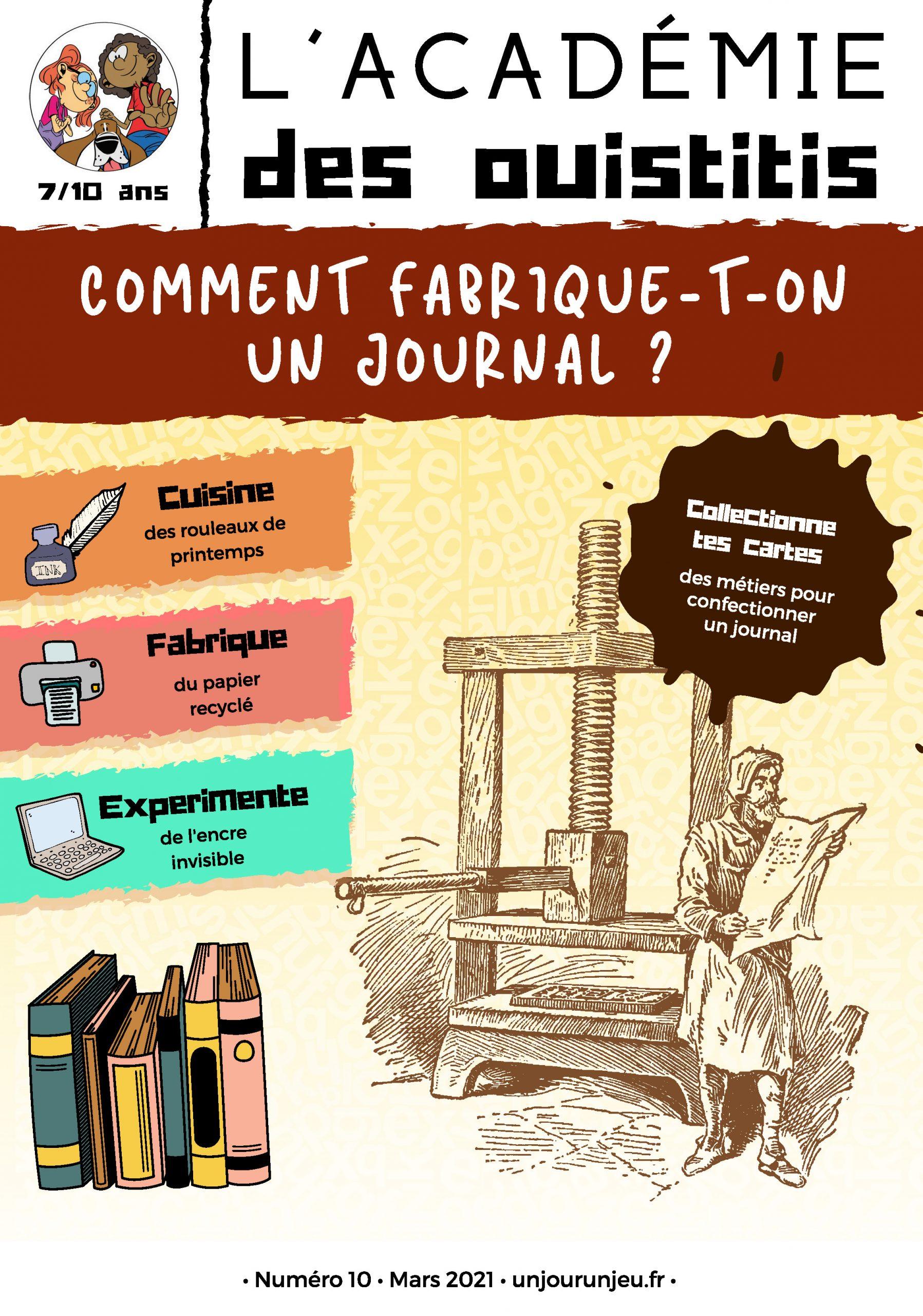 L'Académie des Ouistitis et la fabrication d'un journal