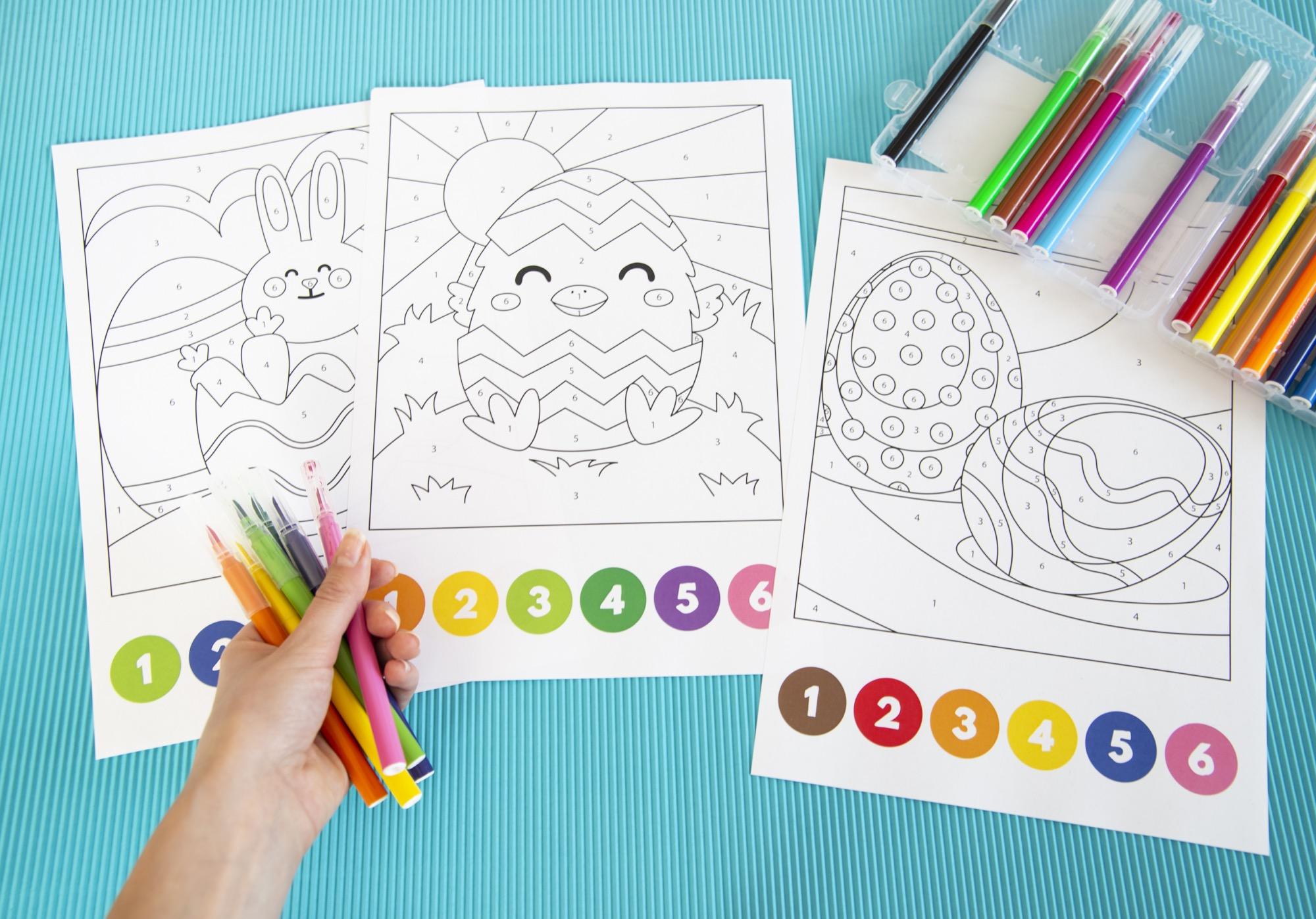 Coloriages magiques de Pâques
