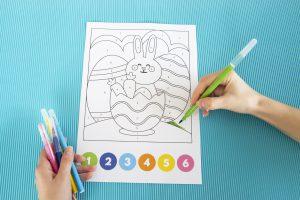 Coloriages magiques de Pâques - 2