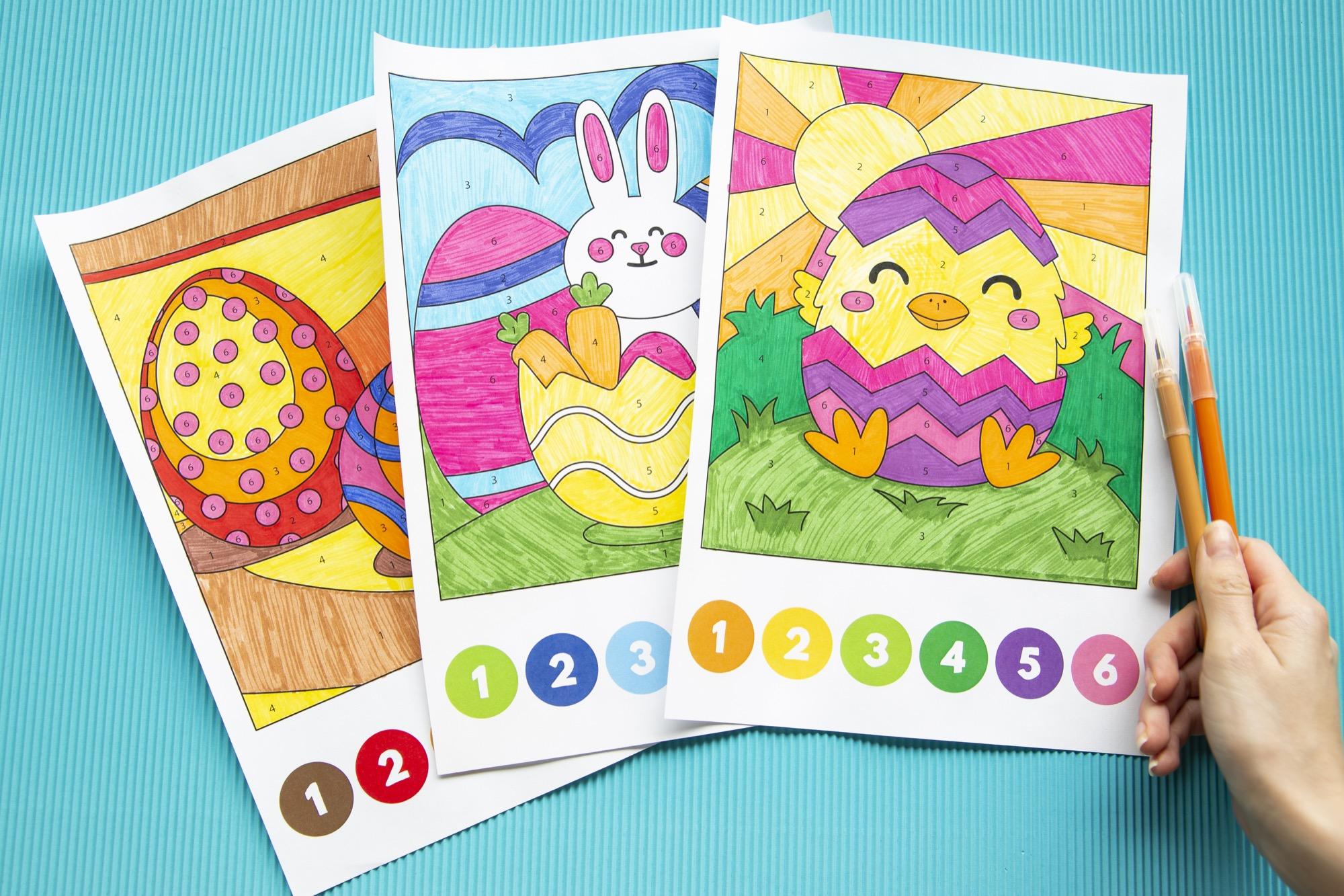 Coloriages magiques de Pâques - 3