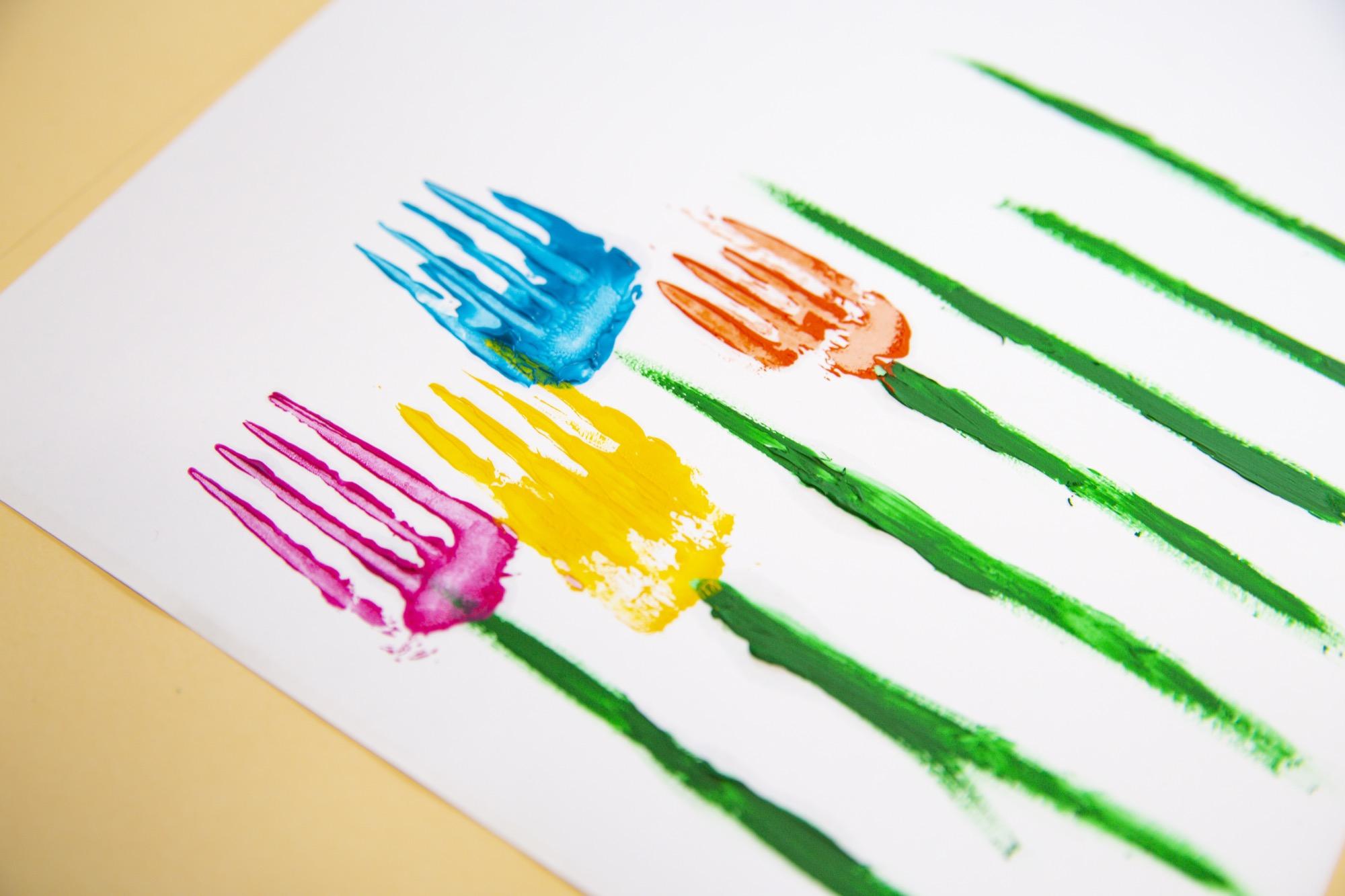 Mes fleurs printanières à la fourchette