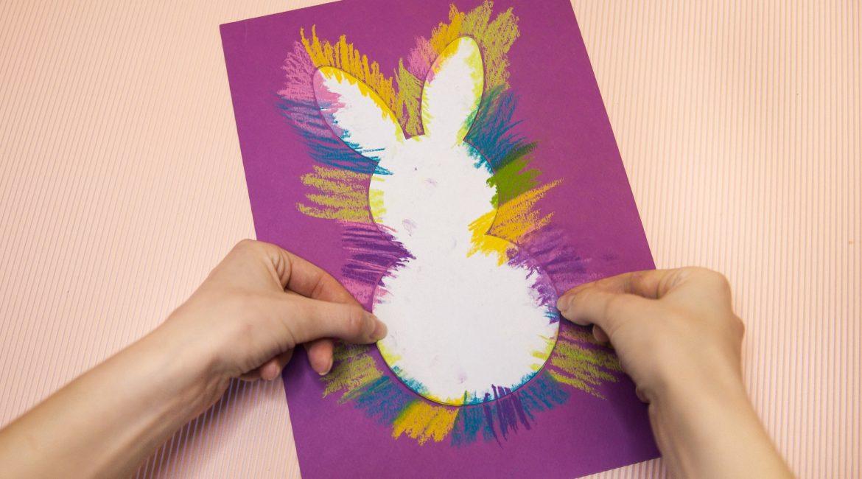 Mon lapin de Pâques fluorescent