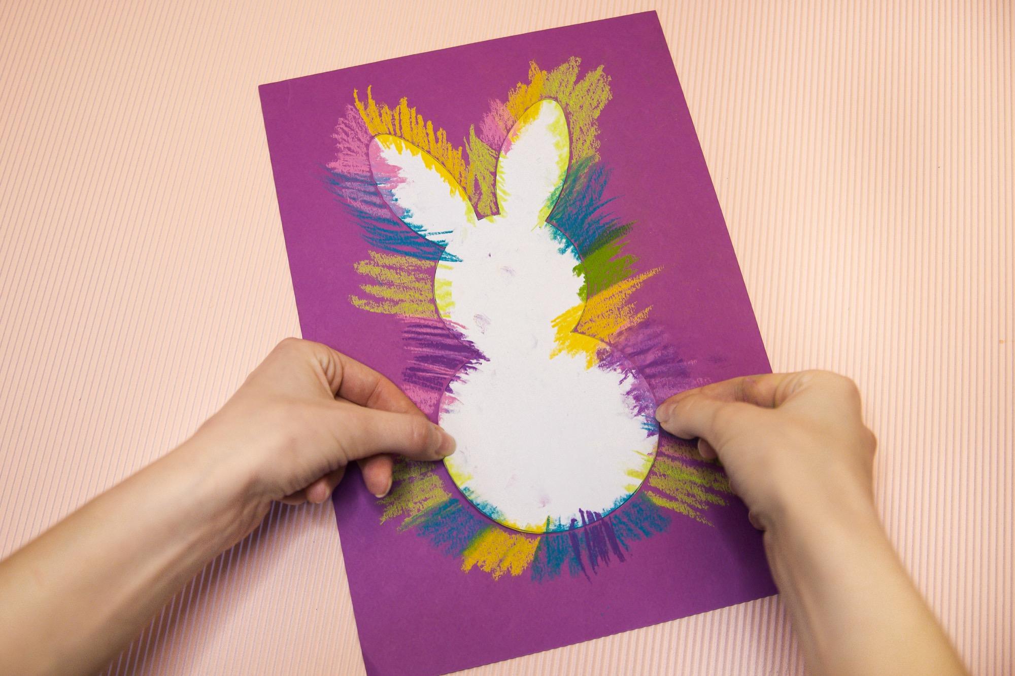 Mon lapin de Pâques au pastel