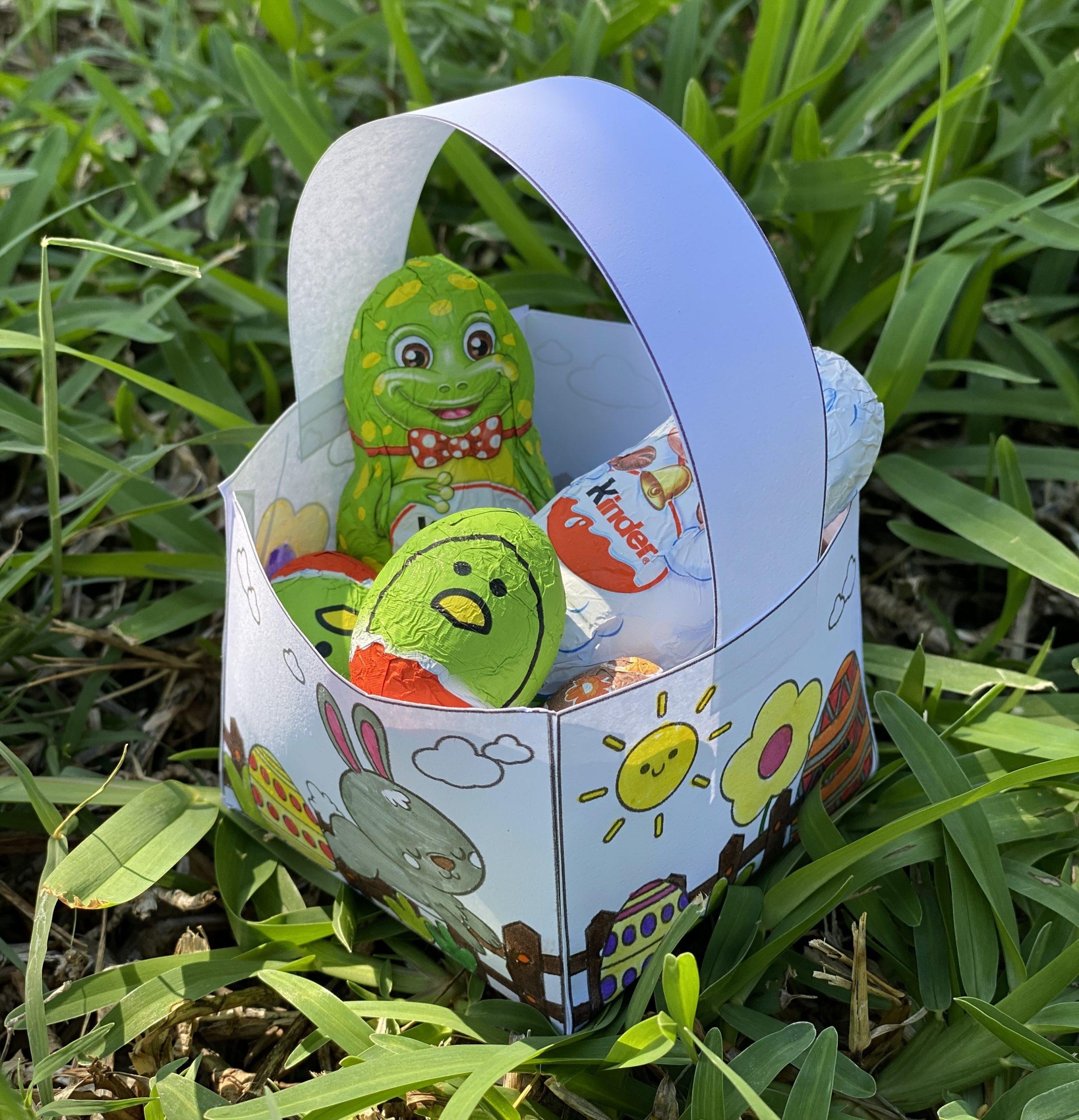 Mon petit panier de Pâques à colorier