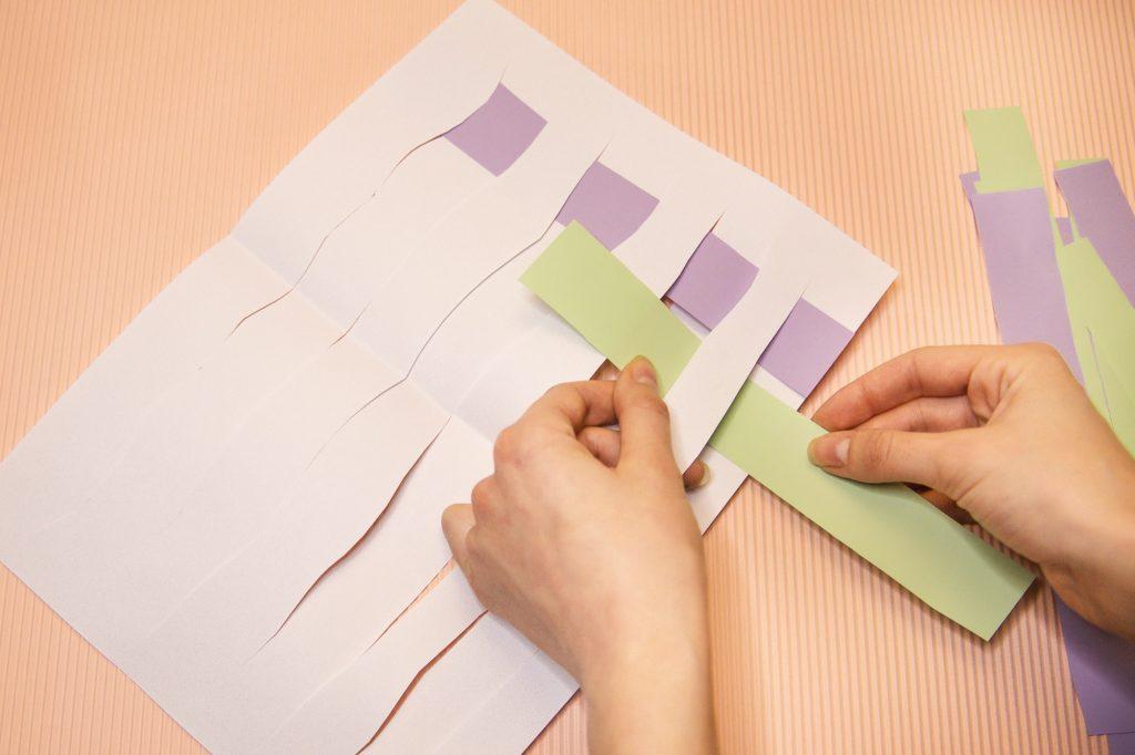 Tissage de papier - étape 2