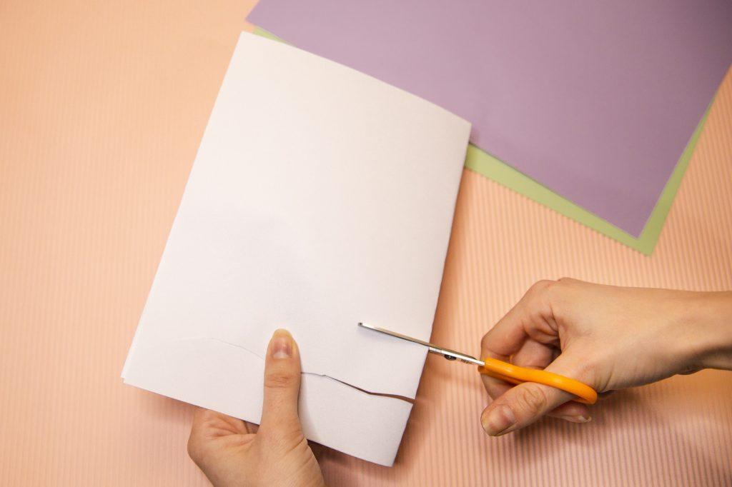 Tissage de papier - étape 1