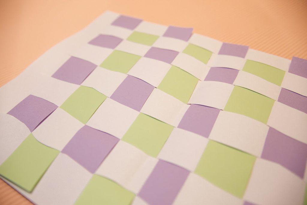 Tissage de papier - étape 4