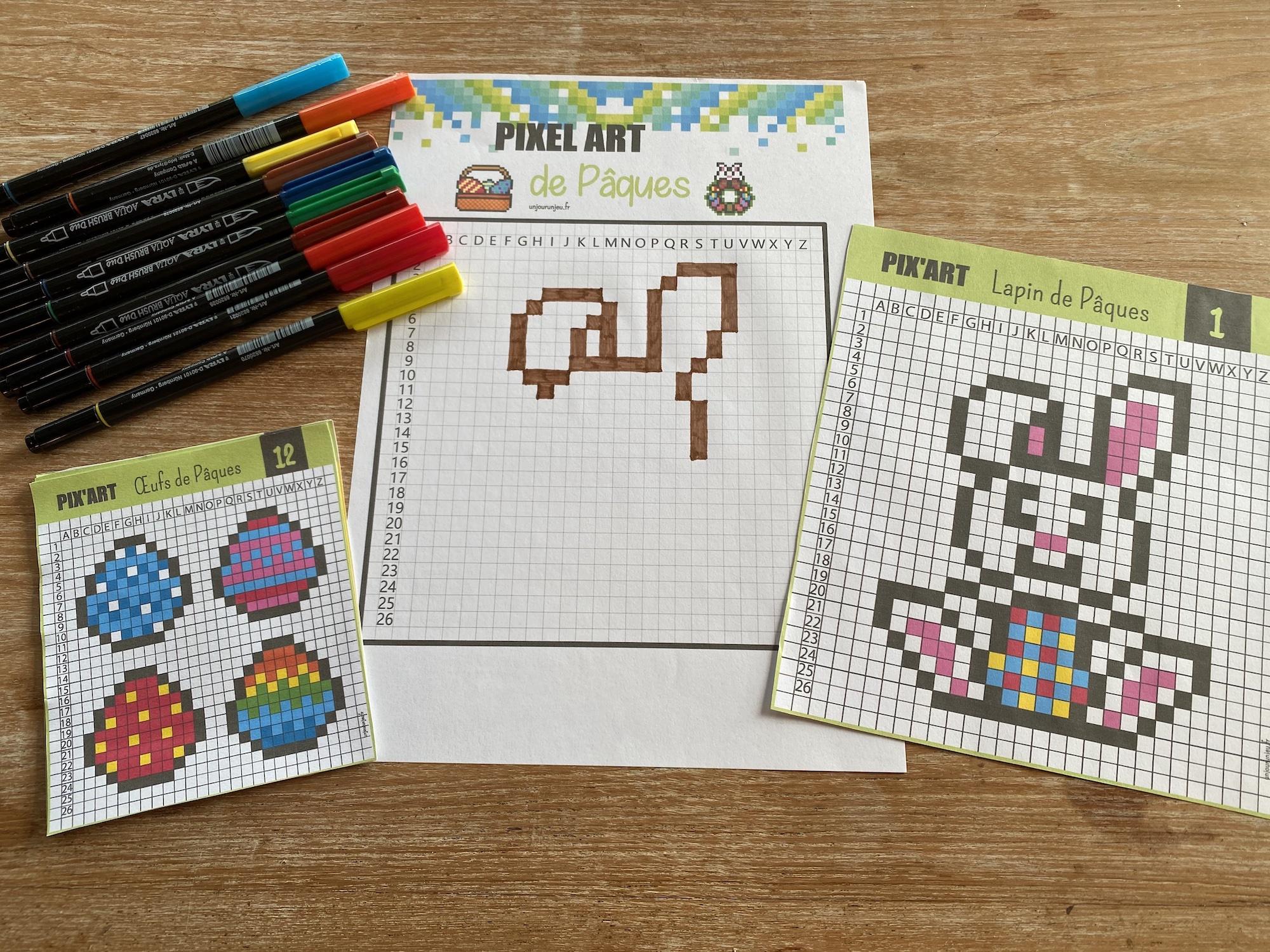 Pixel art de Pâques - 2