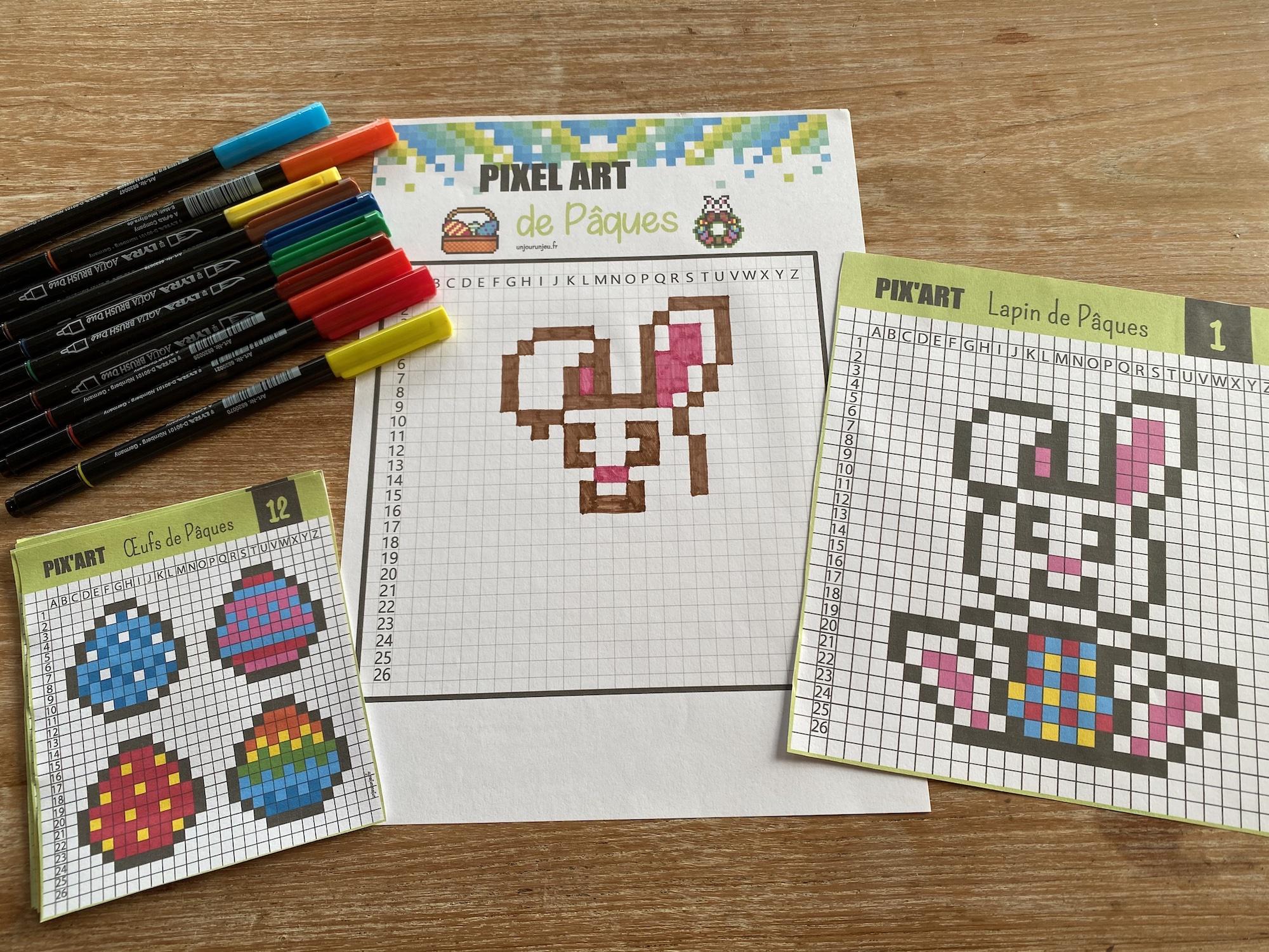 Pixel art de Pâques - 3