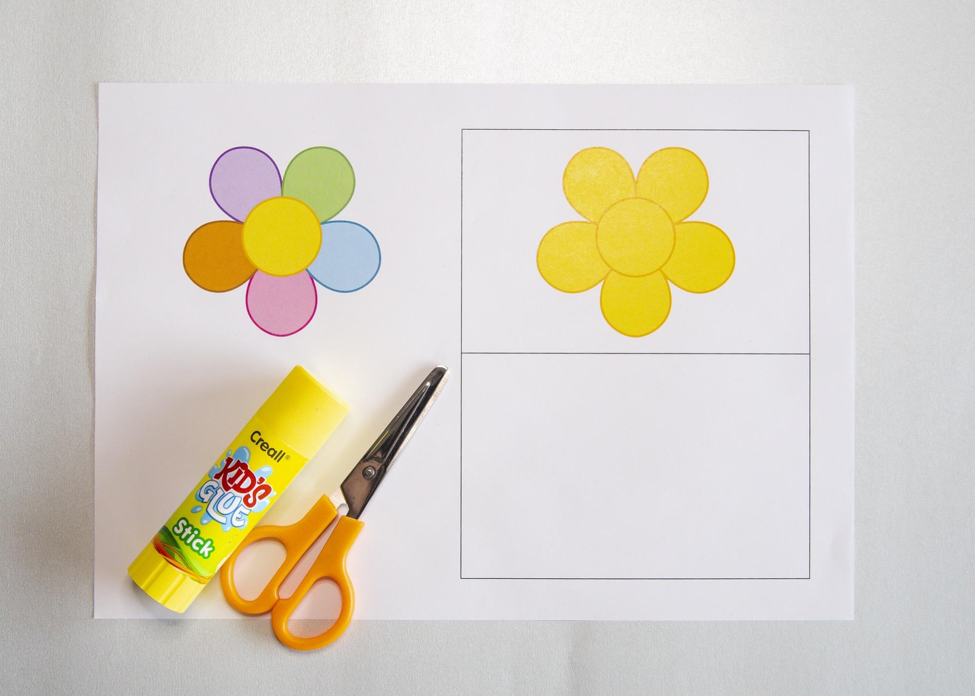 Carte fleur - matériel