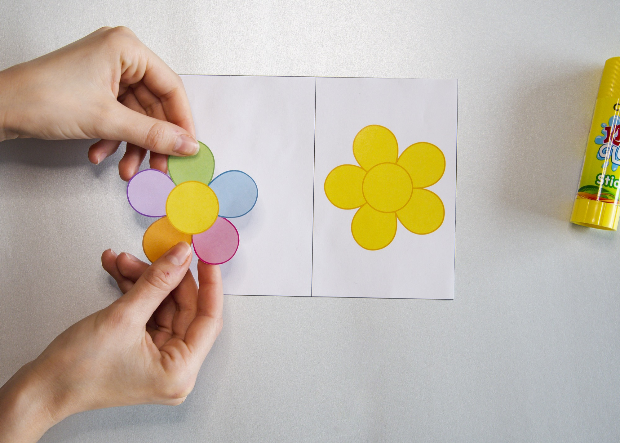 Carte fleur - étape 2