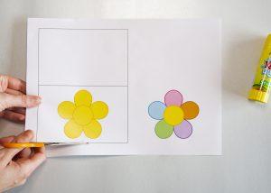Carte fleur - étape 1