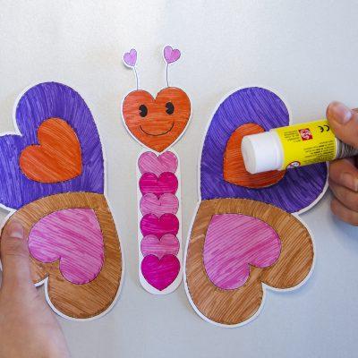 Mon papillon à offrir - étape 4
