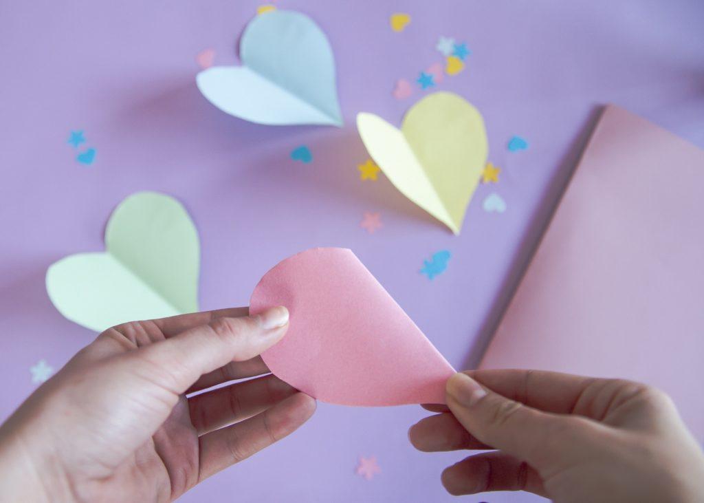 Carte cœur 3D - étape 4