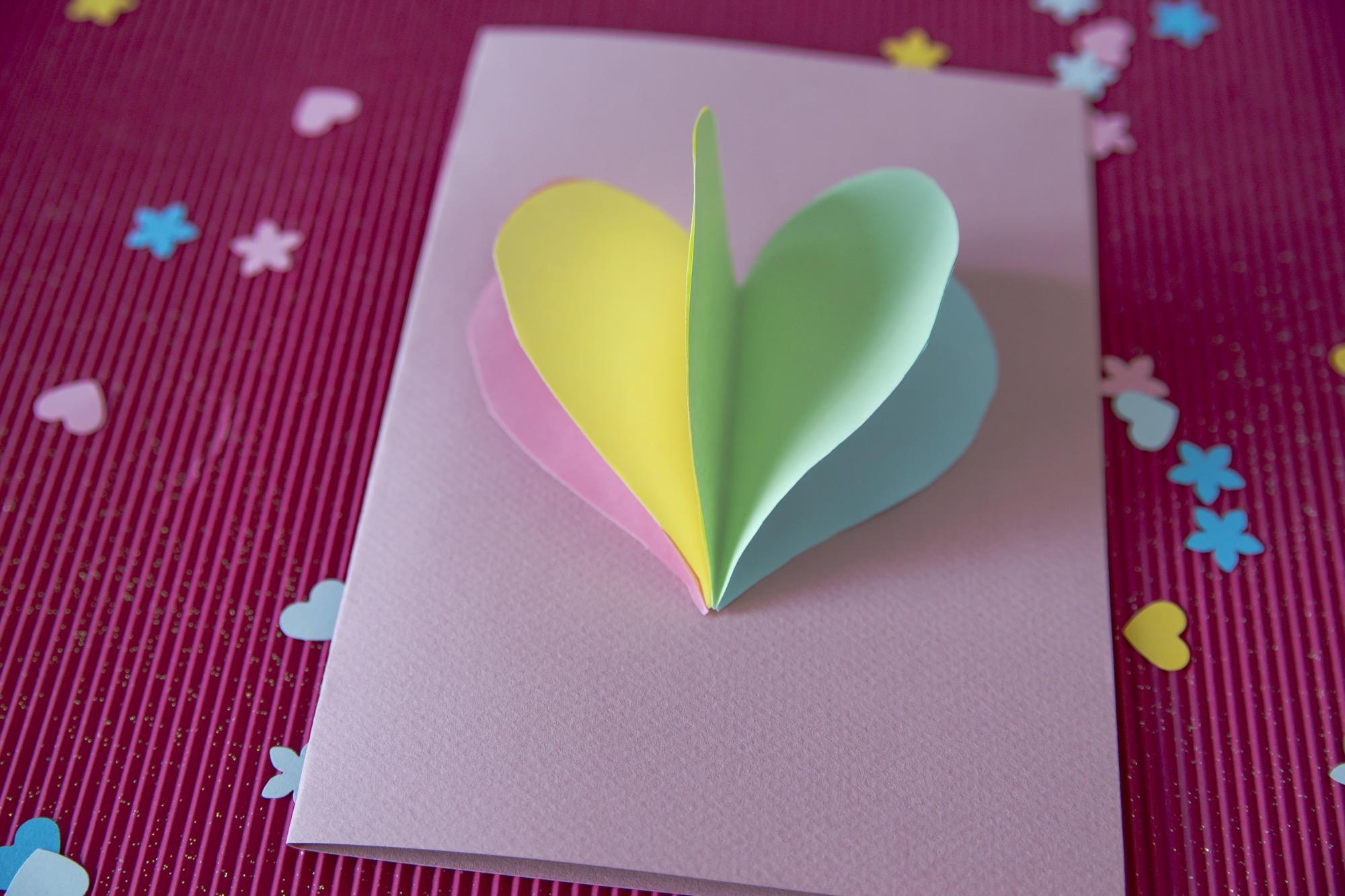 Ma carte cœur en 3D à offrir
