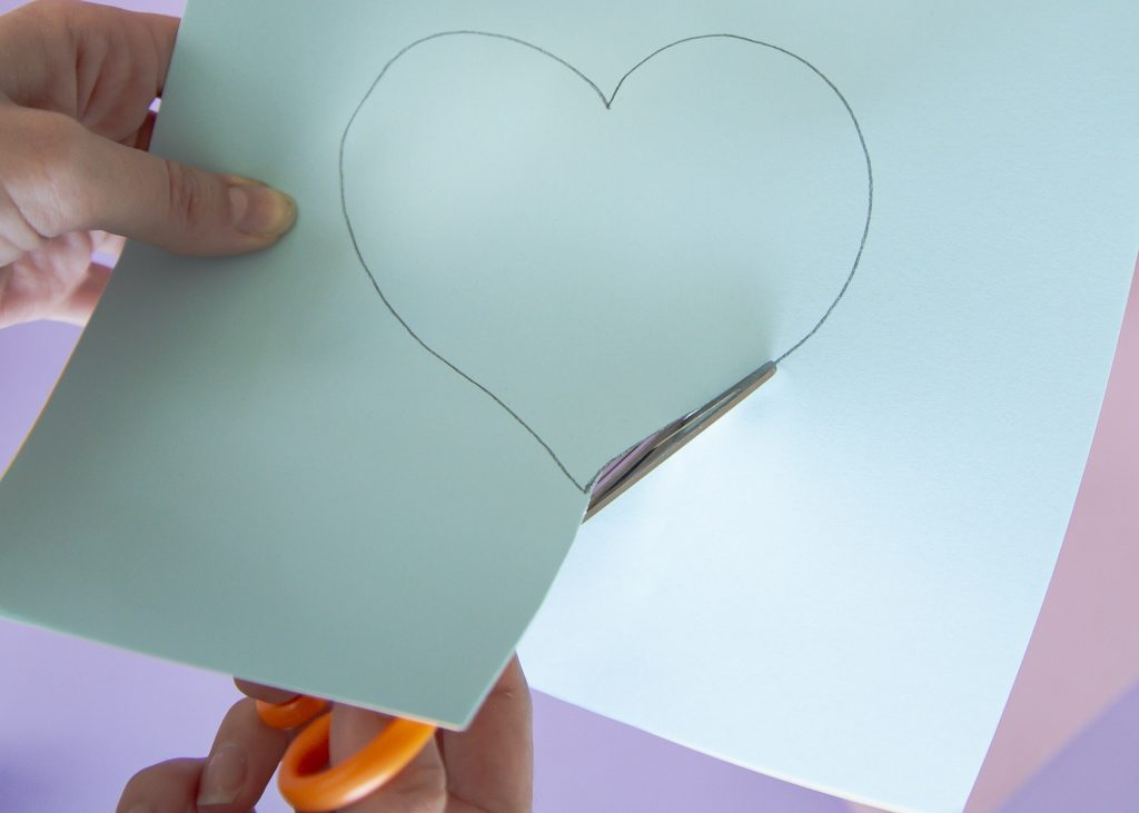 Carte cœur 3D - étape 2