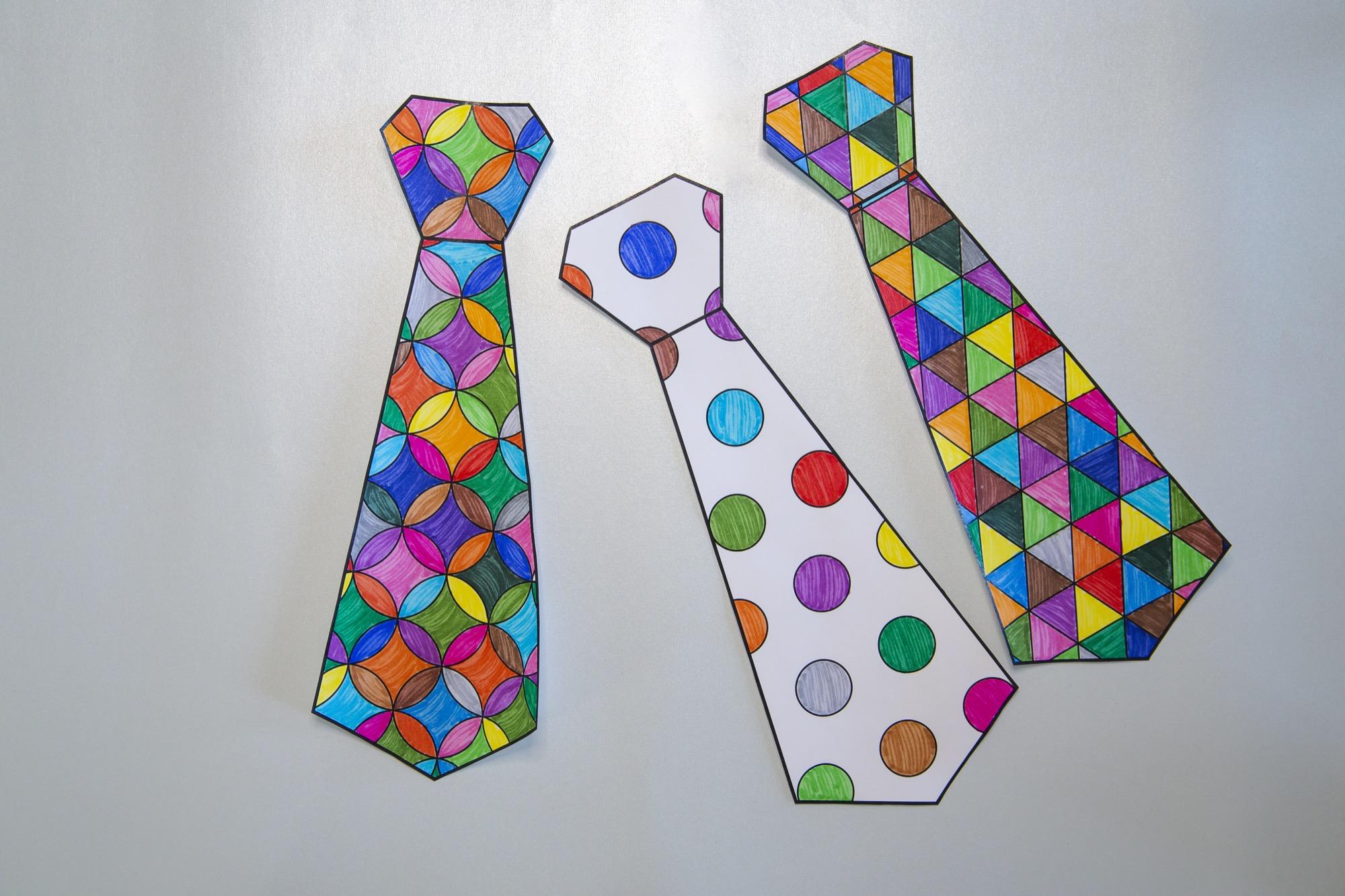 Cravates pour mon papa - étape 4