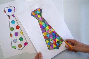 Cravates pour mon papa - étape 3