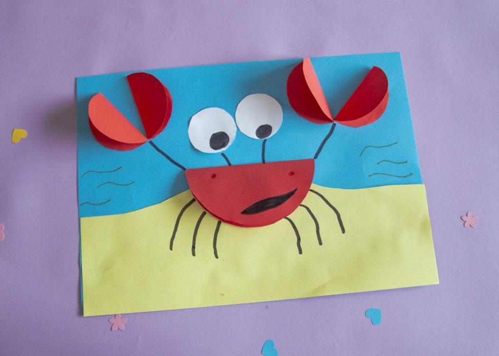 Mon crabe rigolo - étape 7