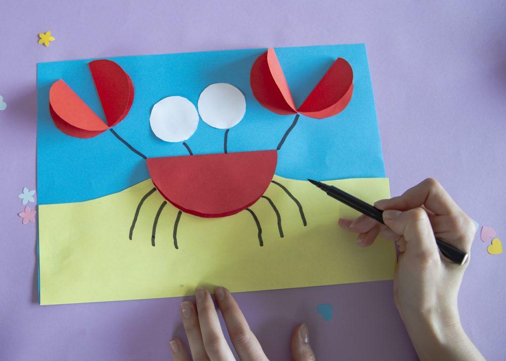 Mon crabe rigolo - étape 6