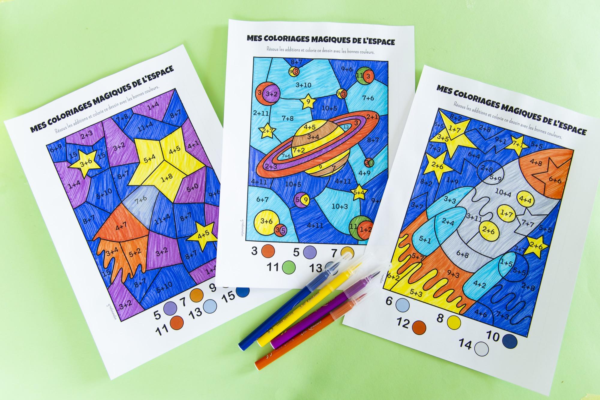 Coloriages magiques de l'espace