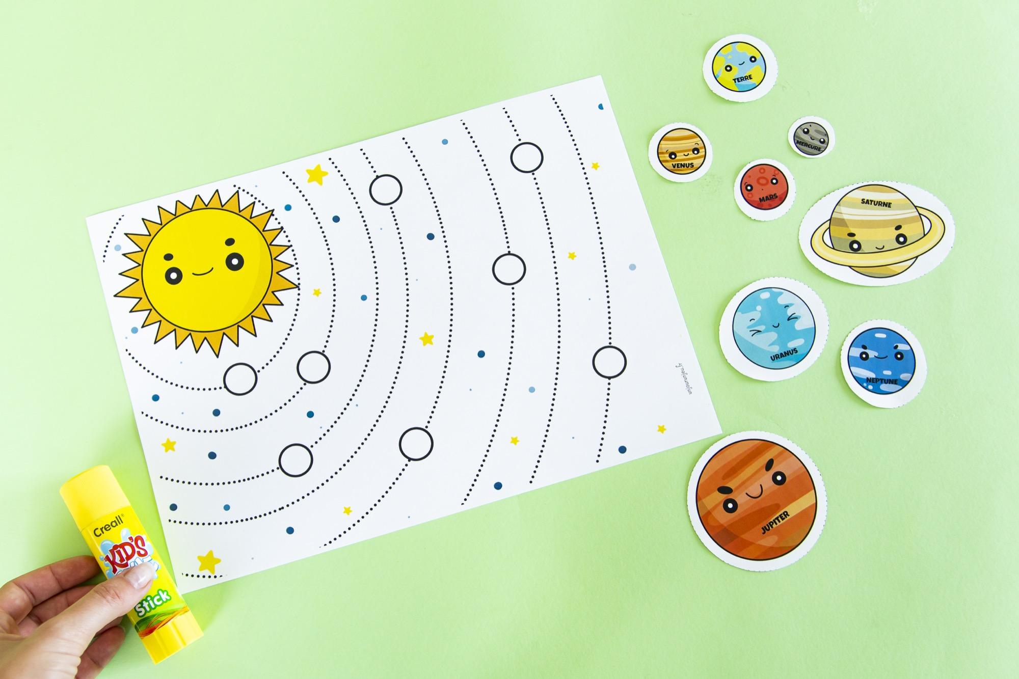 Système solaire à complèter