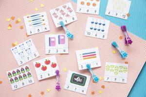 Mes cartes à pinces pour la rentrée des classes