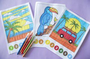 Coloriages magiques de l'été - étape 3