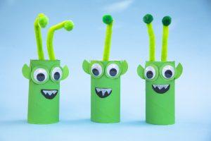 Bricolage de l'espace : mes aliens recyclés