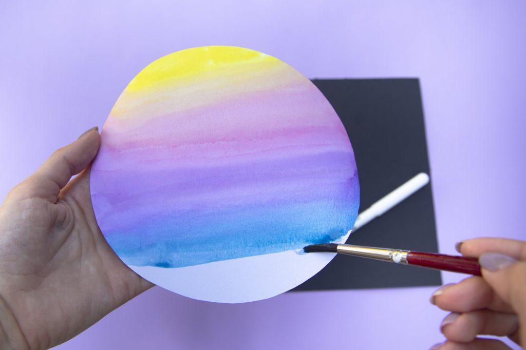 Ma planète en aquarelle - étape 2