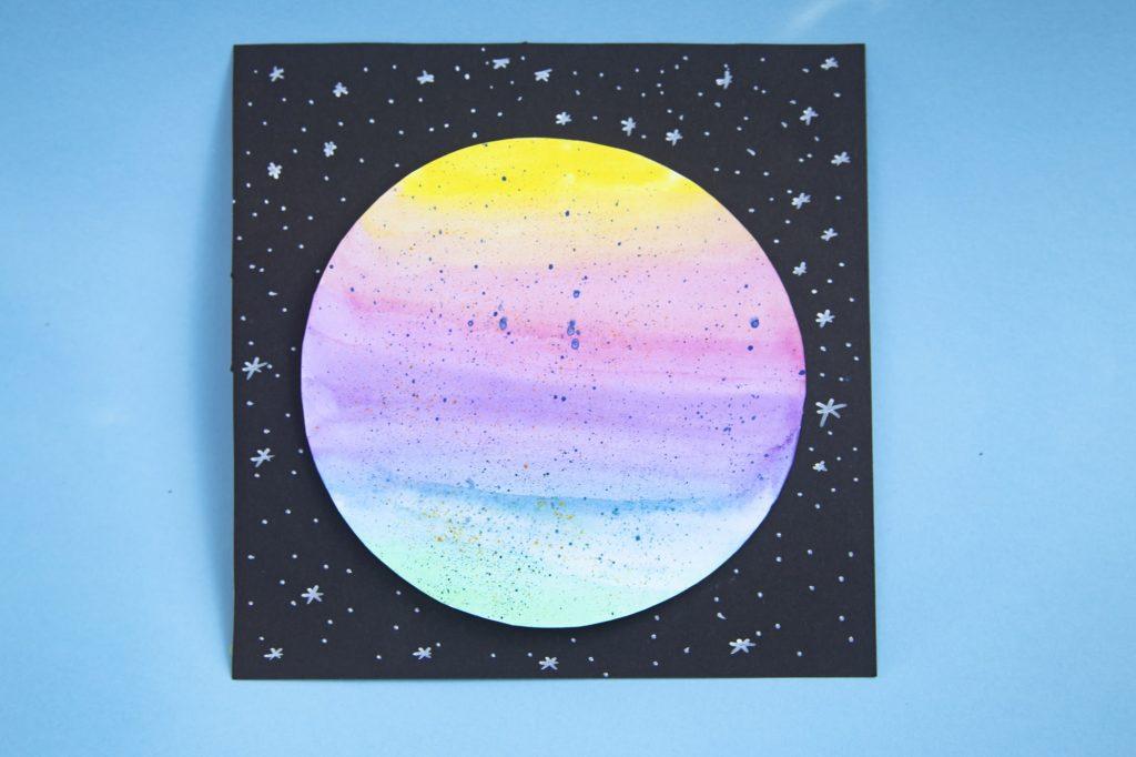 Ma planète en aquarelle - terminée