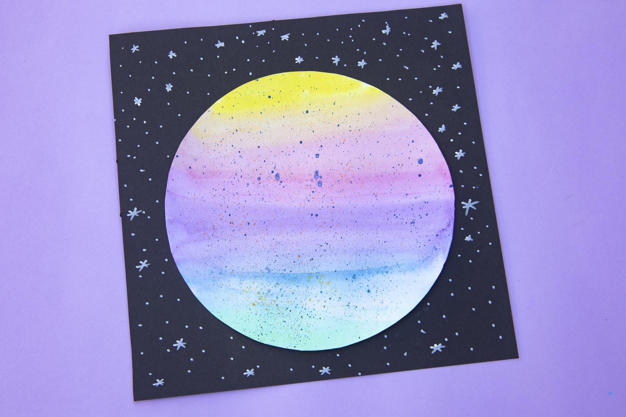 Bricolage de l'espace : ma planète en aquarelle