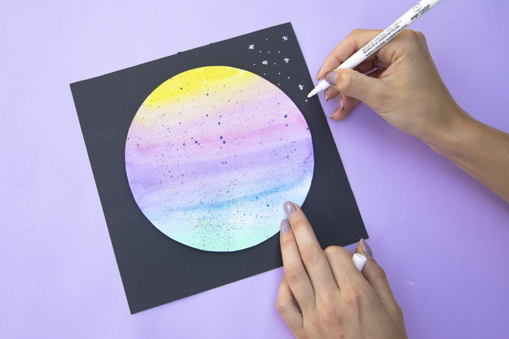 Ma planète en aquarelle - étape 4