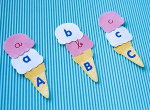 Reconnaissance des lettres avec cornets de glace