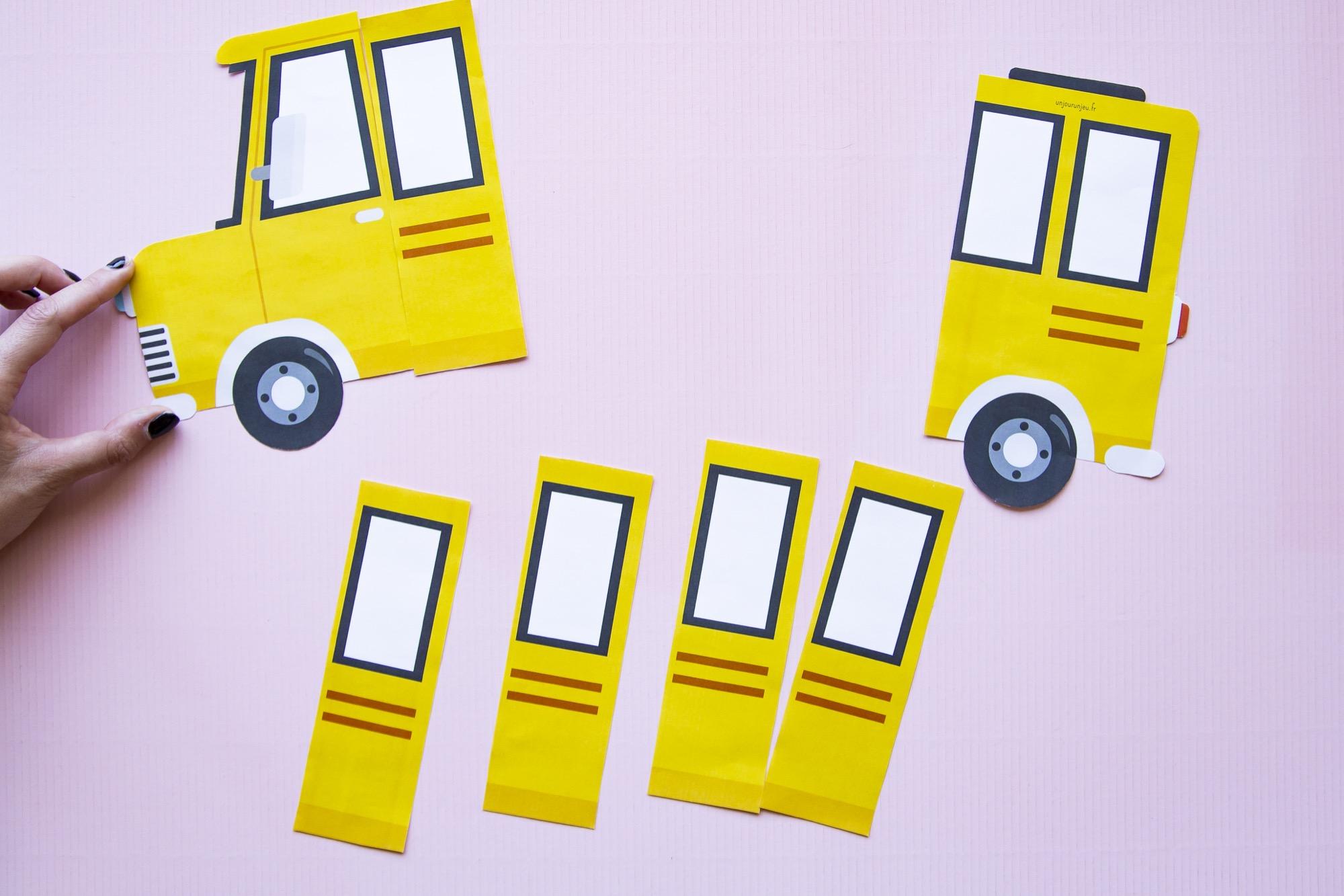 Fiche prénom bus scolaire - étape 3