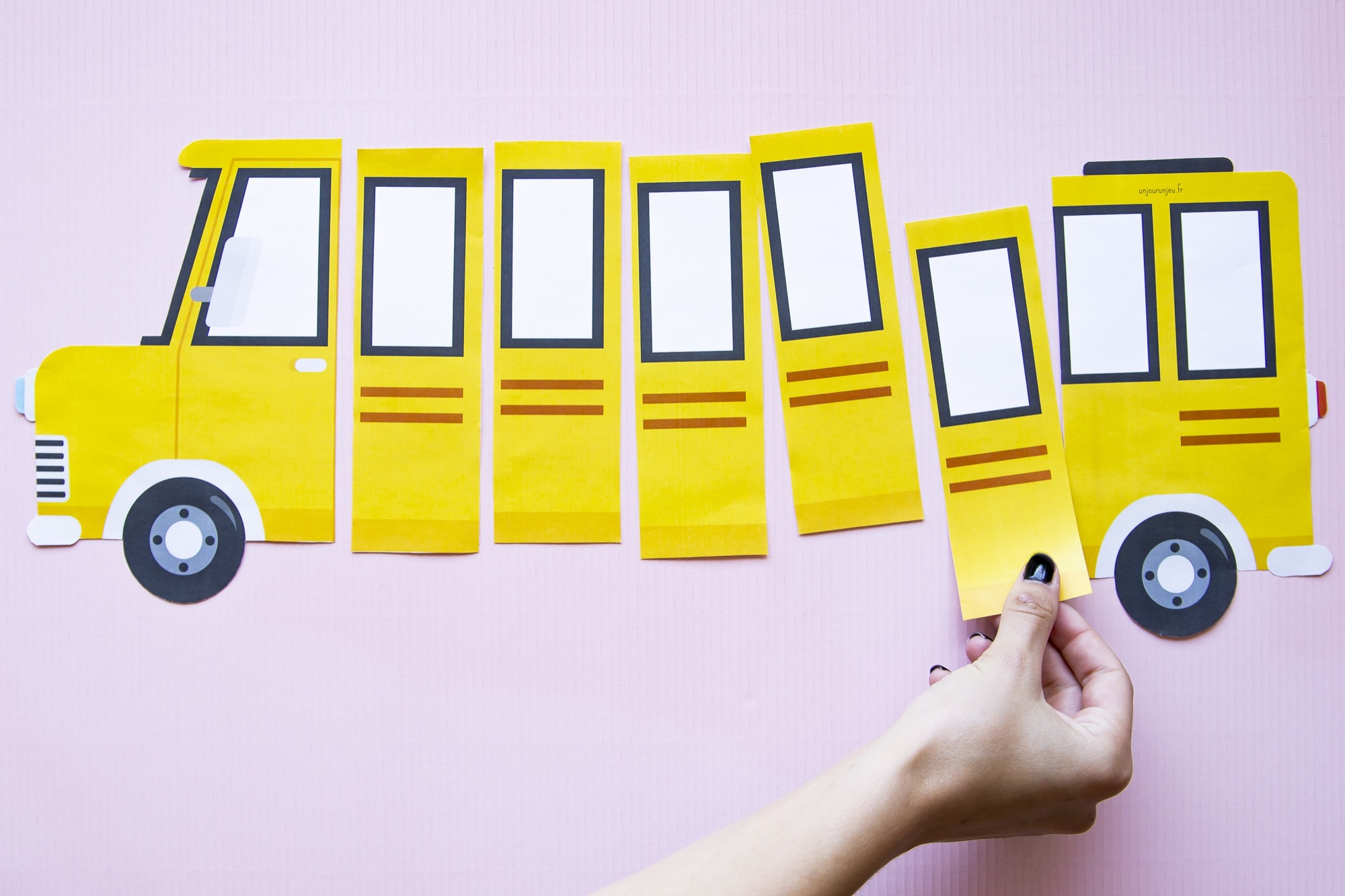 Fiche prénom bus scolaire - étape 4