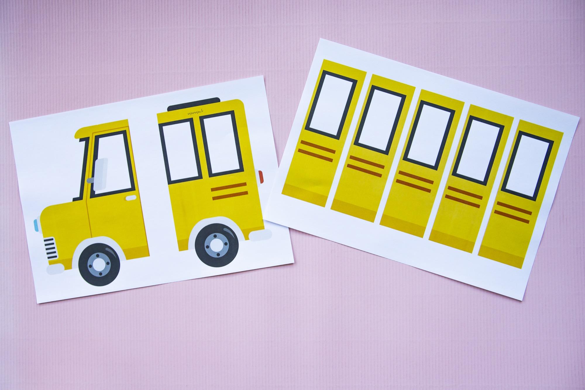 Fiche prénom bus scolaire - étape 1