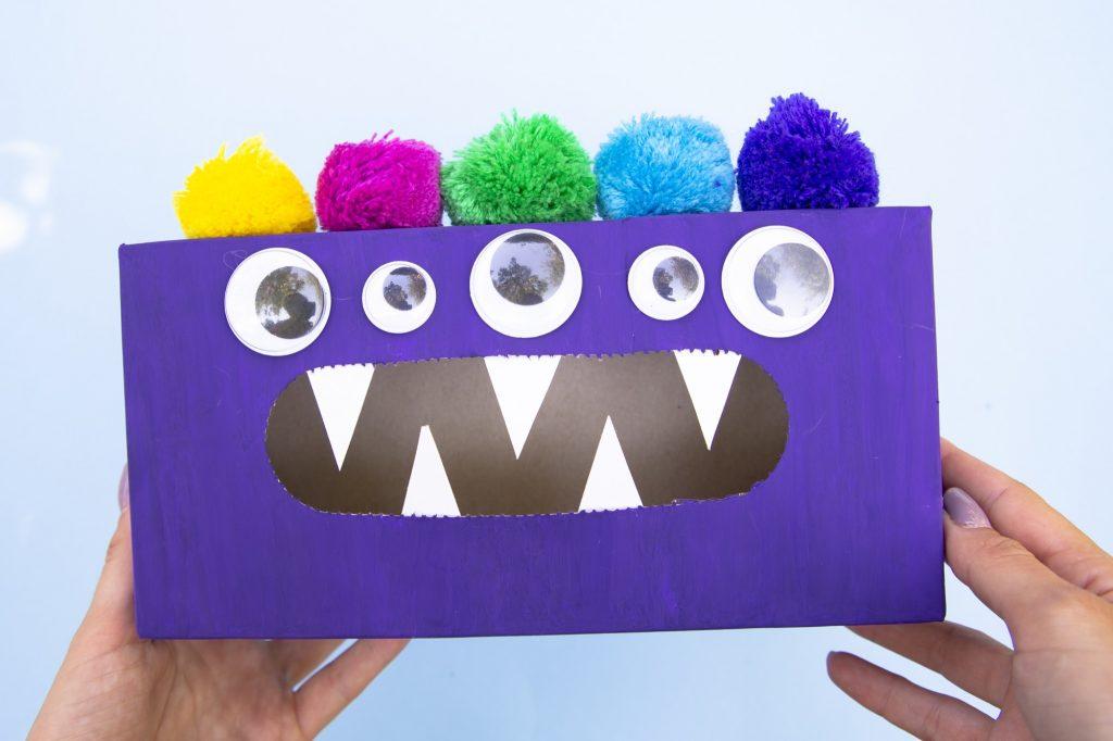 Boîte monstre mange émotions - étape 6