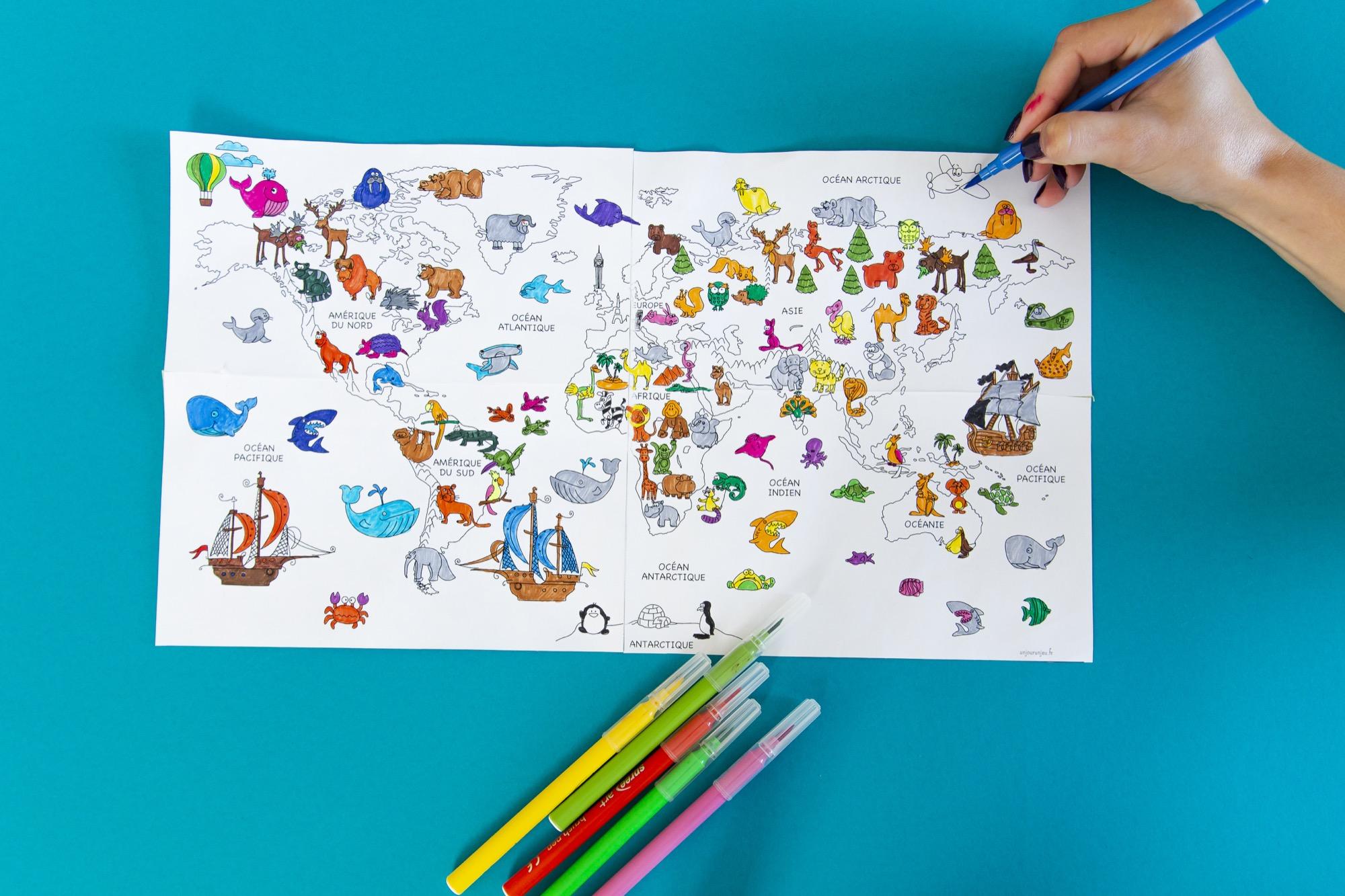 Ma mappemonde à colorier - étape 8