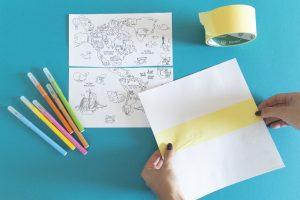 Ma mappemonde à colorier - étape 4