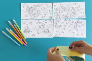 Ma mappemonde à colorier - étape 3