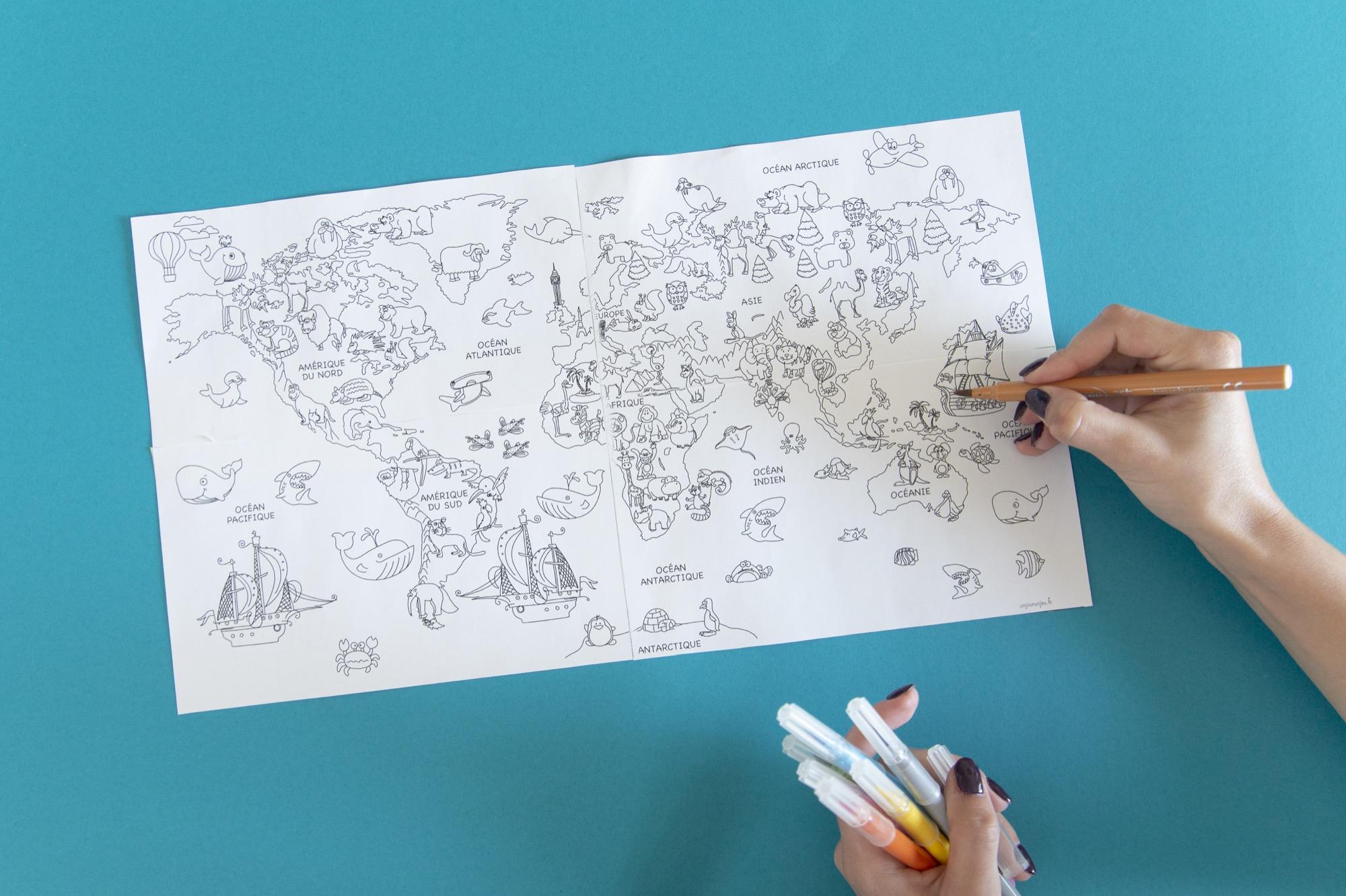Ma mappemonde à colorier - étape 7