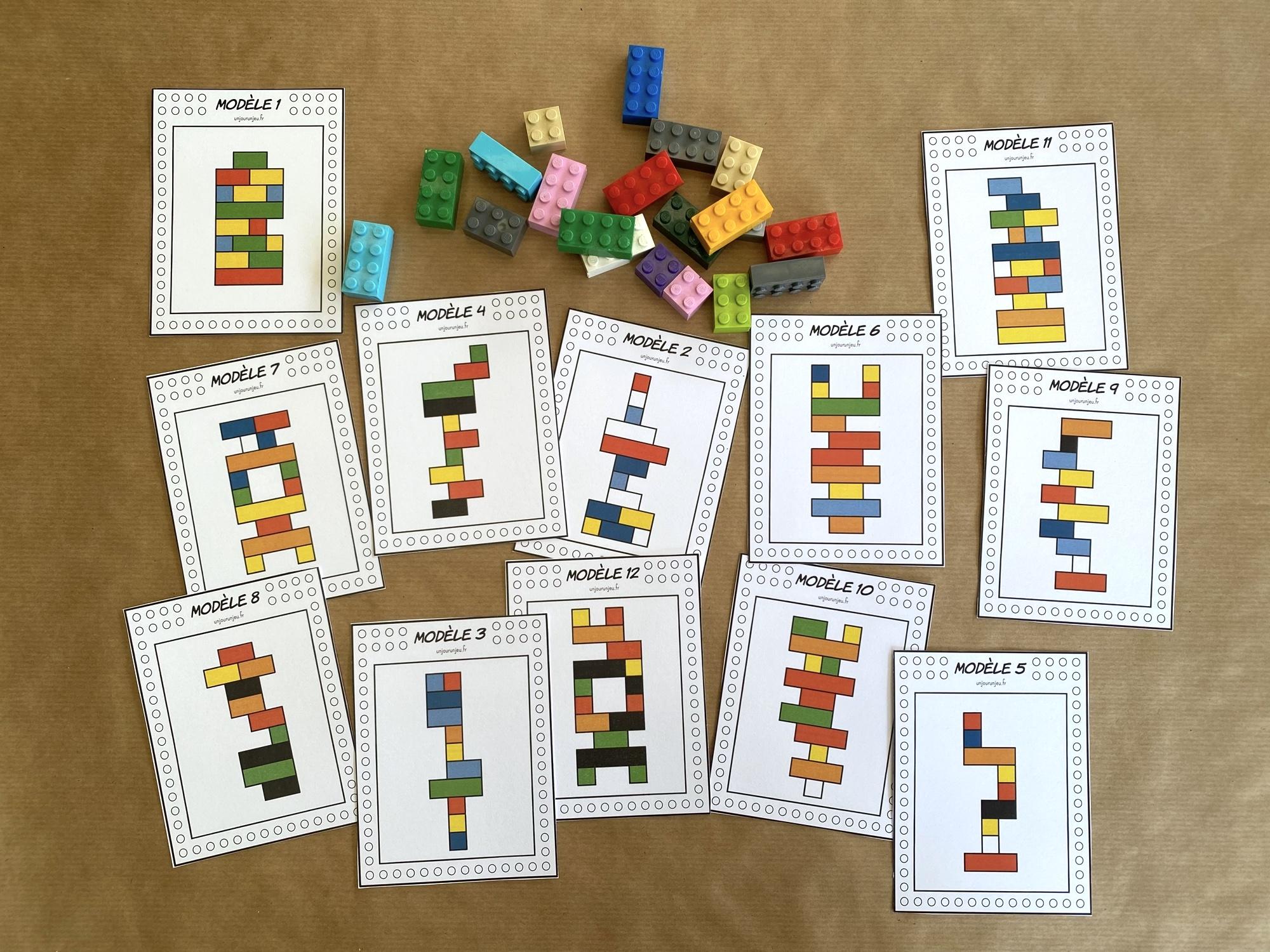 Fiches LEGO à reproduire - étape 2